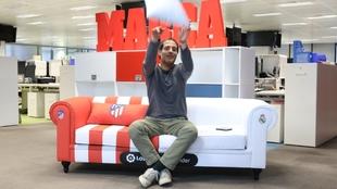 El periodista de Radio MARCA, David Sánchez, en el chéster del...