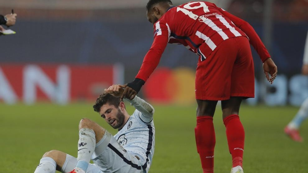 Dembélé., en la eliminatoria ante el Chelsea
