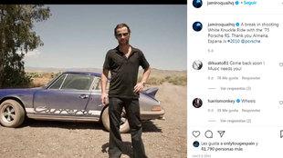 Jay Kay, con su Porsche de cerca de un millón de euros a sus...