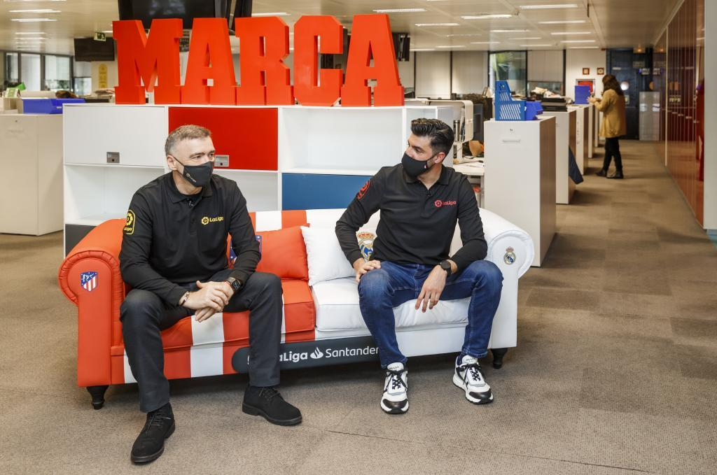 Milinko Pantic y Miguel Torres en la redacción de MARCA.