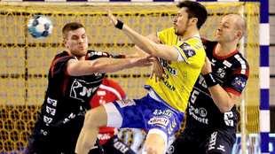 Alex Dujshebaev, en el partido entre el Kielce y el...