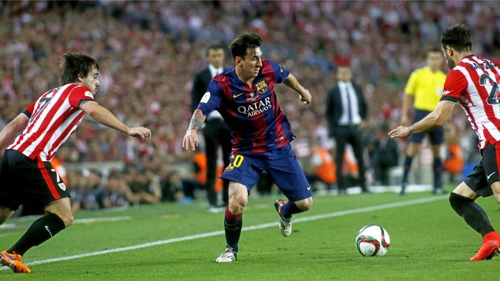 Imagen de Leo Messi durante la final de 2015 en el Camp Nou