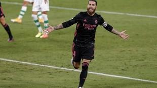 Sergio Ramos, tras marcar el gol que dio el triunfo al Real Madrid...