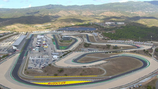 Vista aérea del circuito de Portimao.