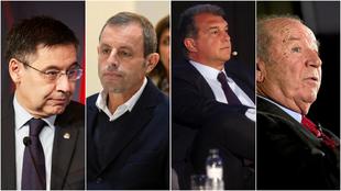Bartomeu, Rossell, Laporta y Núñez, presidentes del Barcelona.