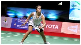 Carolina Marín en el pasado BWF Yonex Thailand Open de enero.