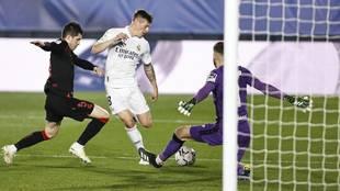 Kroos, en el último partido del Real Madrid ante la Real.