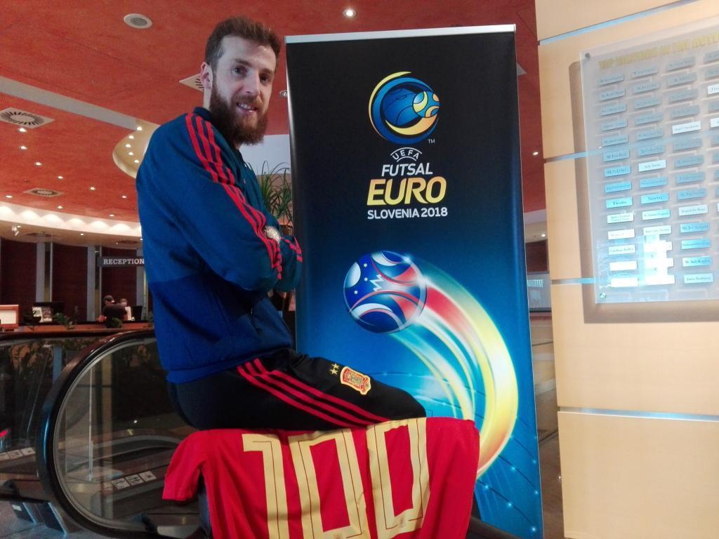 Pola, en Eslovenia, donde cumplió 100 partidos con la selección española.