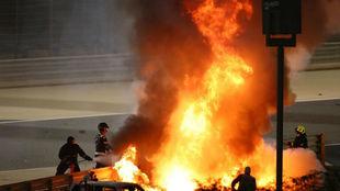 """Conclusiones del informe Grosjean: """"Impacto de 67G y 27 seg. entre el fuego..."""""""