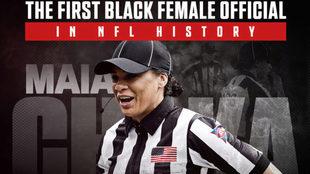 Maia Chaka, la primera oficial afroamericana en la historia de la NFL