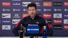 Diego Pablo Simeone en rueda de prensa.