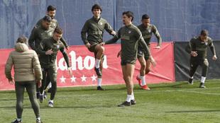 Entrenamiento del Atlético.