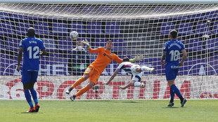 Óscar Plano bate a David Soria en el 1-0.