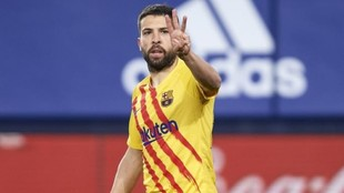 Jordi Alba during the match against Osasuna