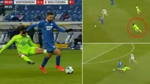 La entrada más criminal del año: indignación de todos los jugadores de la Bundesliga
