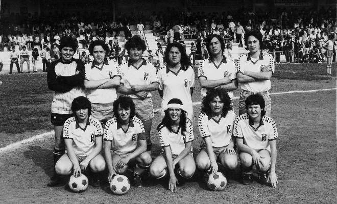 Formación del Karbo en el Campeonato Nacional de 1983.