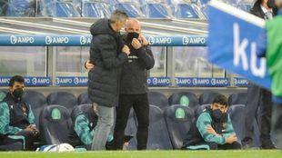 Imanol saludó muy cariñoso a Paco López, antes y después del...