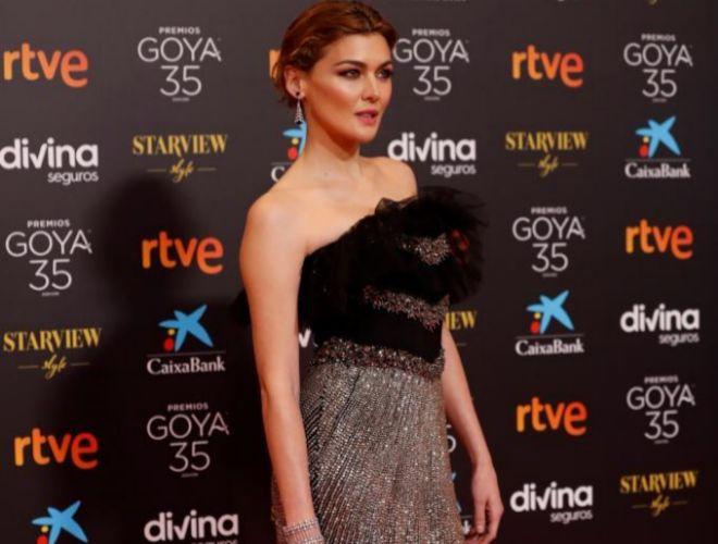 Marta Nieto posa durante los premios Goya 2021 /