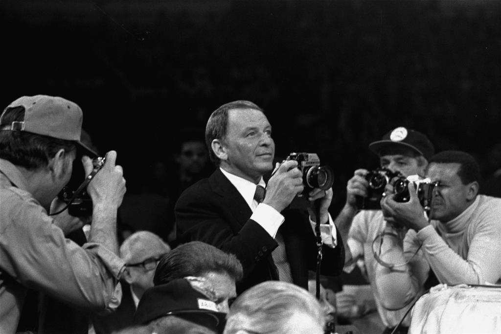 Frank Sinatra, 'fotógrafo' de lujo del Ali vs Frazier.