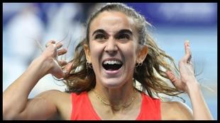 Daniela García, en los Campeonatos de Europa