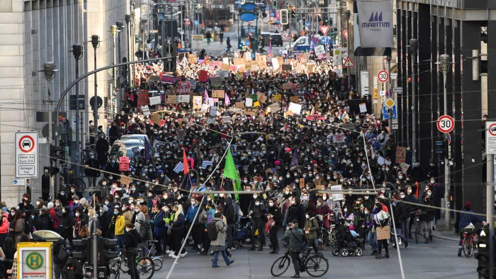 Calles de Berlín en el Día Internacional de la Mujer