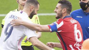 Peleas y reconciliaciones en los Atlético vs Real Madrid