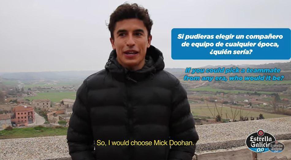 Marc se queda con Doohan como el compañero que le habría gustado tener.