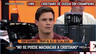 La encendida defensa de Edu Aguirre de Cristiano Ronaldo