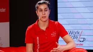 Carolina Marín, durante el acto de Santander Talks.