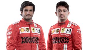 Carlos Sainz y Charles Leclerc.