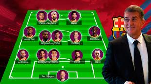 El posible once del nuevo Barça de Laporta: ¿suficiente para que se quede Messi?