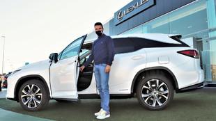 Bautista es embajador de Lexus España y conduce un NX 300h Híbrido.