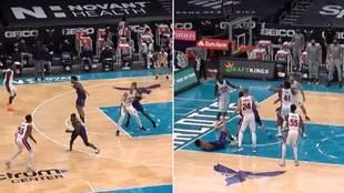 El mayor ridículo jamás visto en la NBA en una sola jugada