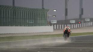 Pol Espargaró, sobre la Honda hoy en Losail.