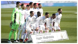 El once del Madrid para medirse al Elche.