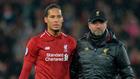 Virgil van Dijk y Jurgen Klopp, tras un partido del Liverpool