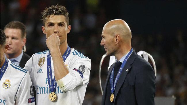 Cristiano y Zidane, en la final de Kiev, su último foto juntos en el...