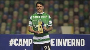 Pedro Porro tras un partido con el Sporting de Portugal esta...