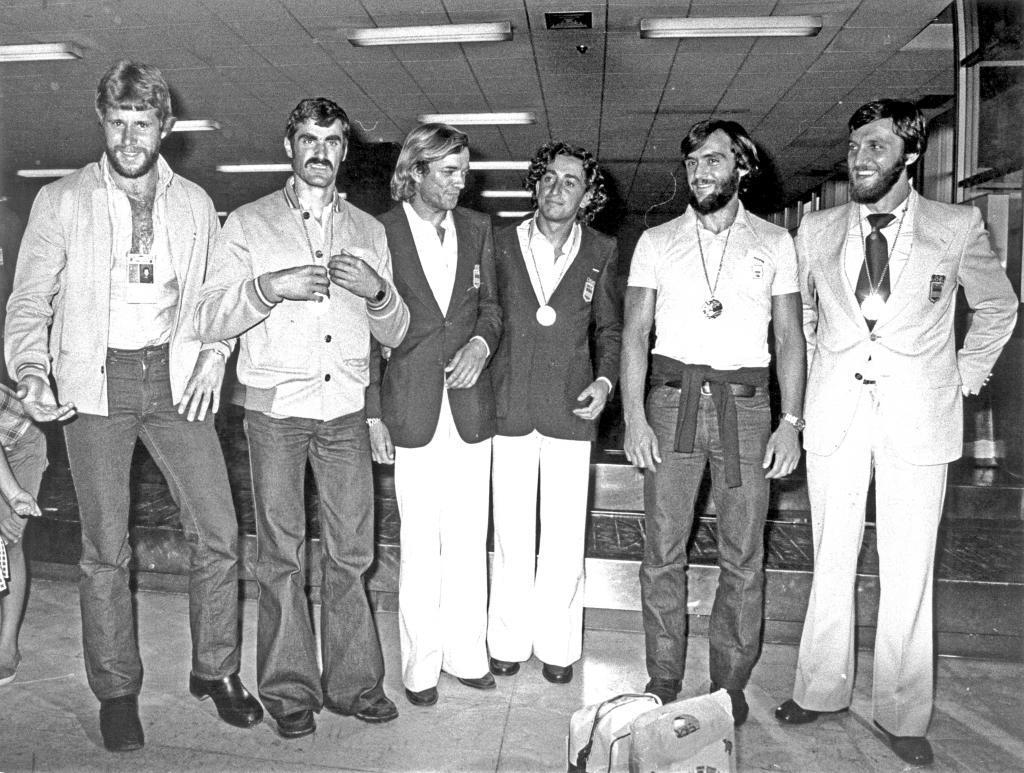 Los medallistas de Montreal:  Díaz Flor, Celorrio, los regatistas Gorostegui y Millet, Misioné y Menéndez