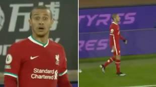 La reacción de Thiago al ser sustituido: así alucinaron los comentaristas