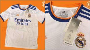 Camiseta del Real Madrid para la temporada 2021/22.