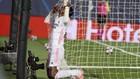 Vinicius se lamenta tras no lograr el gol después de la gan jugada...