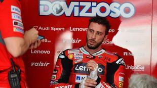Andrea Dovizioso, con Ducati en 2020.