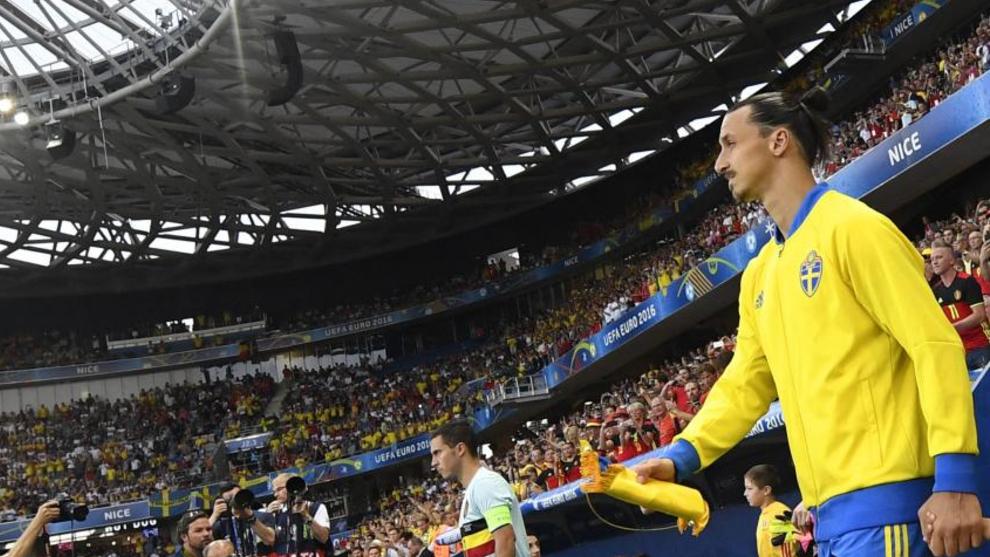 El capitán sueco, en uno de sus últimos partidos antes de que decidiera dejar la selección