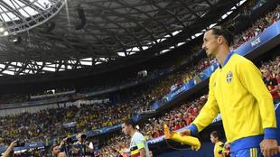 El capitán sueco, en uno de sus últimos partidos antes de que...