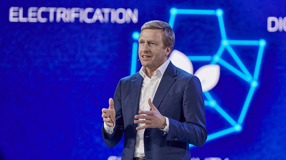 Oliver Zipse, presidente de BMW, en la conferencia de resultados.