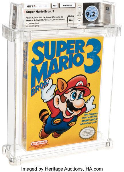 Super Mario Bros 3 para NES, el juego más caro del mundo