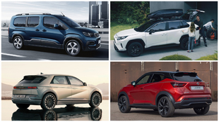 Peugeot Rifter, Toyota RAV4, Hyundai Ioniq 5 y Nissan Juke.
