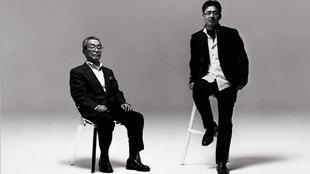Matasaburo Maeda, ex jefe de diseño de Mazda, y su hijo Ikuo, actual...