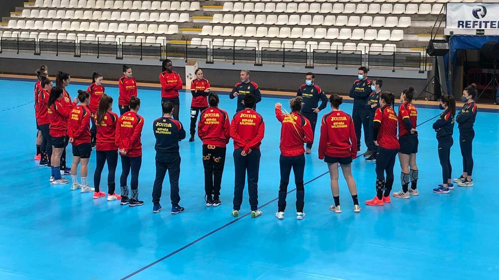 Entrenamiento de la selección española en Llíria /